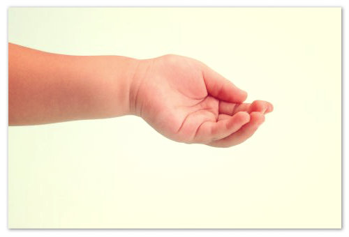 От руки в мозг идет множество нервных окончаний