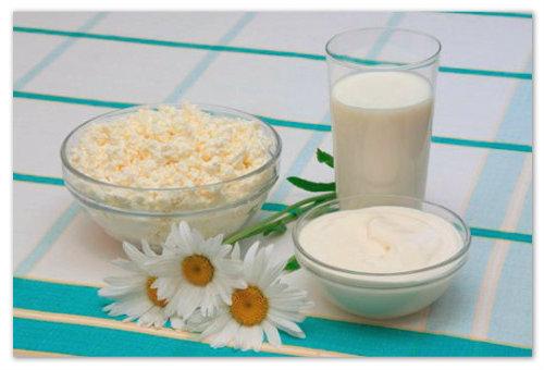 Сметана и молоко для творога