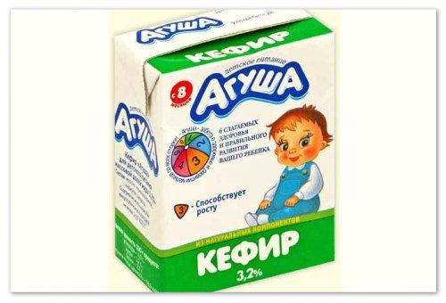 Упаковка кефир Агуша.