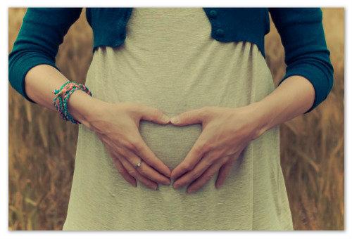 Беременная девушка.