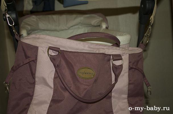В комплекте сумка для детских вещей на все случаи жизни.