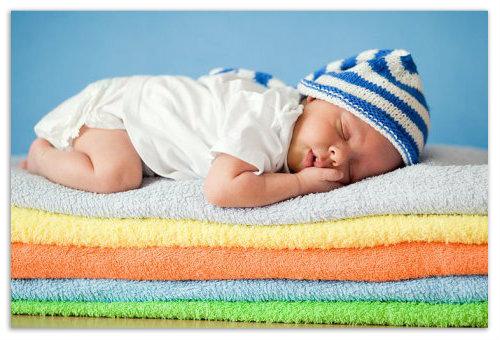 Спим на полотенцах.