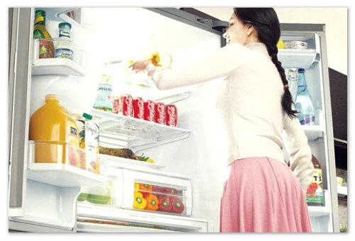 В холодильнике