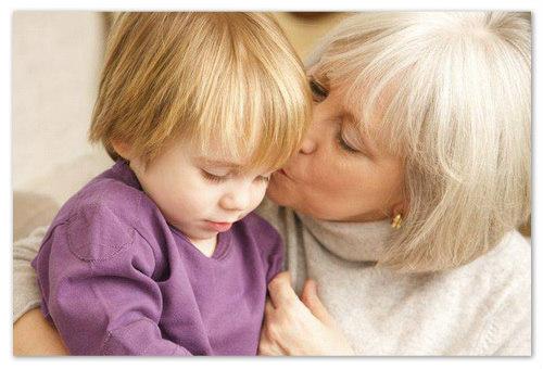 Бабушка и внук.