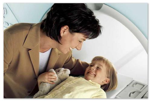 Томография мозга ребёнка.