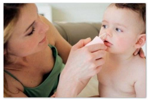 Детский назальный аспиратор груша.