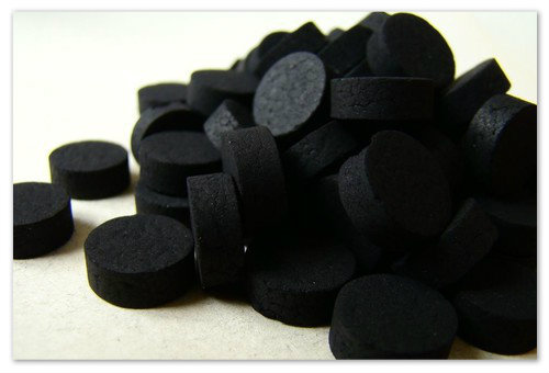 Приём активированного угля.