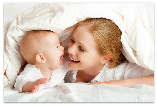 Здоровый малыш — счастливая мама.