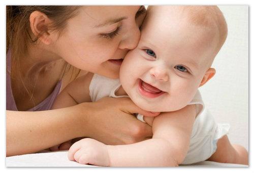 Здоровый ребёнок, счастливая мама.