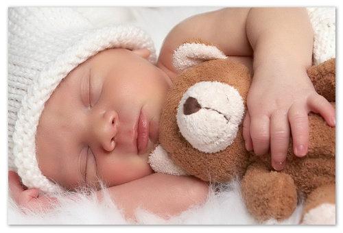Крепкий сон ребёнка.