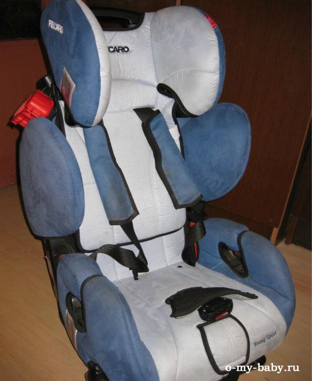 Внешний вид модели Recaro Young Sport со спинкой в верхнем положении.