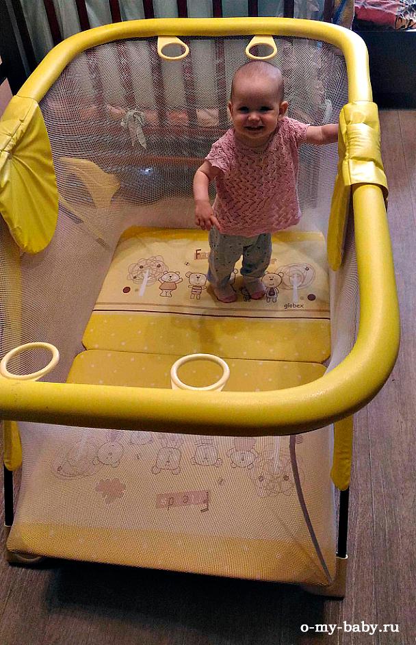 Ребёнок в манеже Globex Арена.