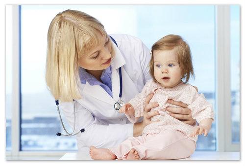 Ребёнка привели на осмотр к педиатру.