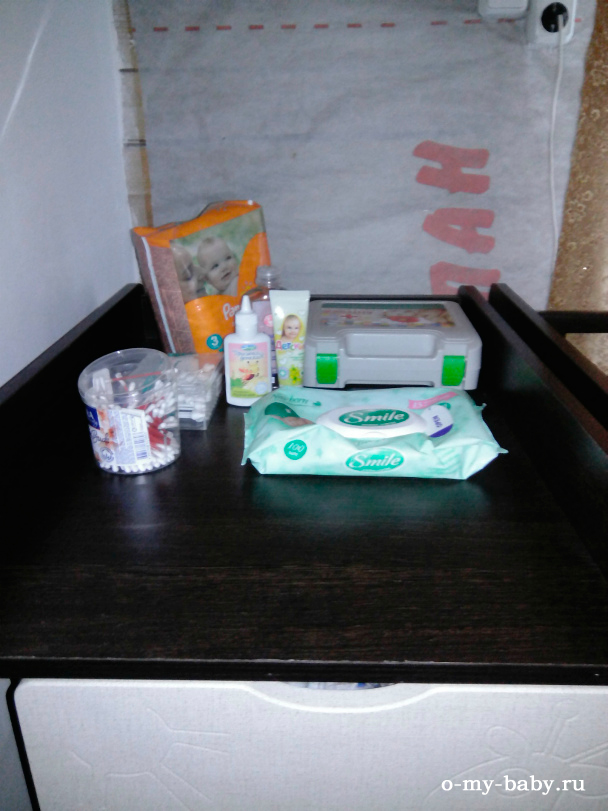 Использования стола для пеленания.