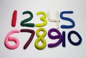 Пластилиновые цифры.