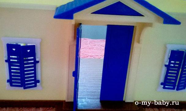Ставни и двери можно открывать.