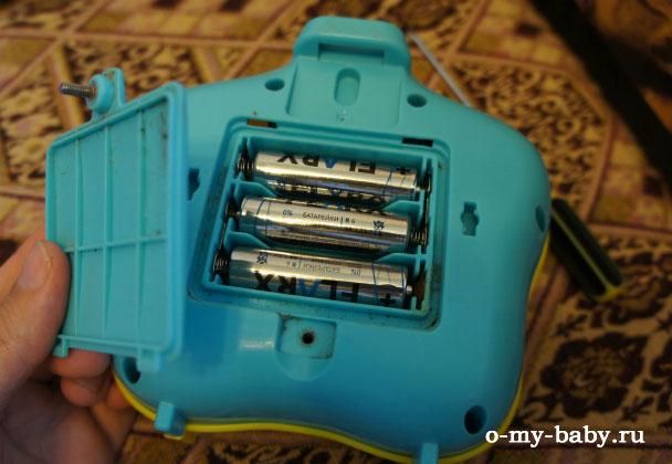 Замена батареек.